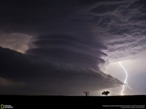 NG Stacked Supercell with Lightning - Jennifer Brindley