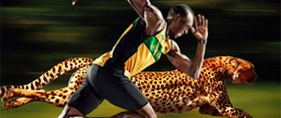 Carrera Virtual entre Usain Bolt y un Guepardo recreada por Nat Geo